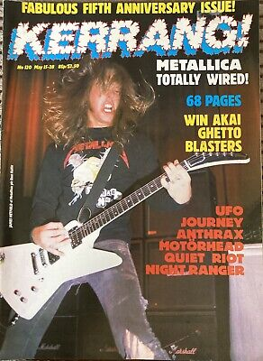 Kerrang 120, Almost New Cond'. Metallica, Ramones, Anthrax, Motorhead. 1986 • 3.50£