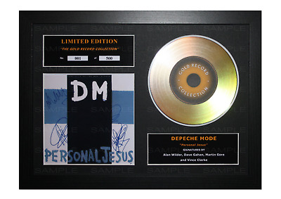 Depeche Mode Signed Gold Disc Album Ltd Edition Framed Picture Memorabilia • 19.99£