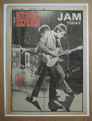THE JAM NME Front Cover - ORIGINAL (not Reproduction) - From 1977. • 25£