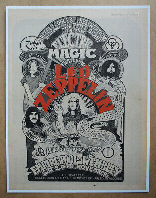 LED ZEPPELIN ORIGINAL ADVERT (not Reproduction) From 1971 • 35£