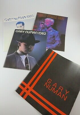 Gary Numan Yearbooks 1982, 1984, 1985, Rare Collection, Electronica 80's Pop • 9.99£
