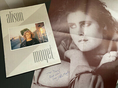 Signed Alison Moyet Poster And World Tour Programme Booklet Christmas Gift • 8£