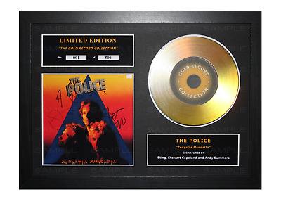 The Police Signed Gold Disc Album Ltd Edition Framed Picture Memorabilia • 19.99£