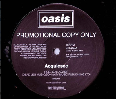Oasis - Acquiesce - LIMITED EDITION PROMO - 12 Inch Vinyl - BRAND NEW • 39.99£