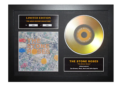 The Stone Roses Signed Gold Disc Album Ltd Edition Framed Picture Memorabilia • 19.99£
