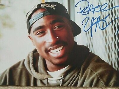 2pac(tupac)shakur Signed Autographed Picture 💯!!! • 1,000£