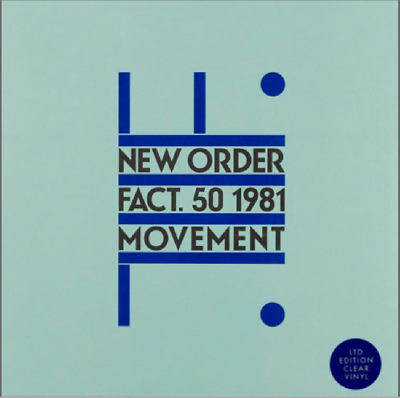 New Order - Movement - HMV Special Limited Edition - CLEAR VINYL - Rare! • 49.99£