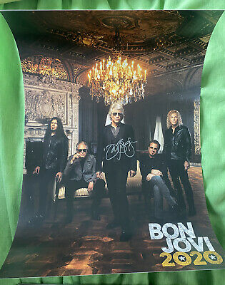 Bon Jovi 2020 SIGNED Poster - Autographed - In Hand • 34.95£