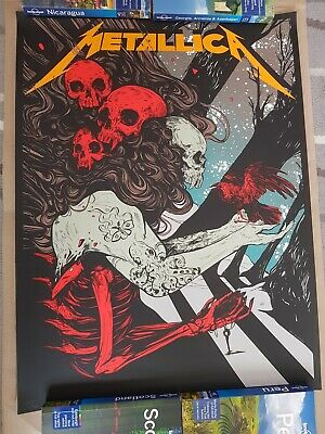 Metallica WolfSkullJack Giving Tuesday Exclusive Poster Numbered • 154£