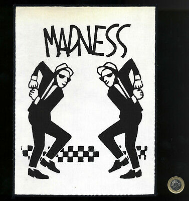 MADNESS - LARGE CLOTH PATCH - 40 YEARS OLD PERFECT CONDITION Ska 2 Tone Stiff Lp • 24.99£