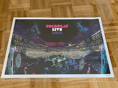 Coldplay Live 2012 Lithograph Rare • 25£