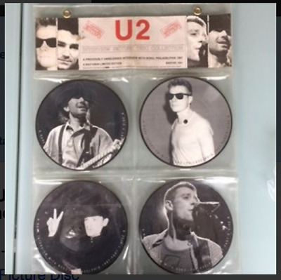 U2 (Bono / The Edge) Interview -  4 X 7 Inch Picture Disc Set - Very Collectable • 19.99£