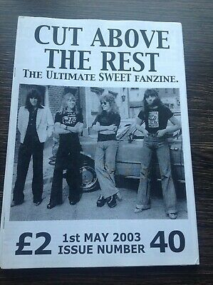 THE SWEET - Cut Above The Rest VINTAGE Official Fanzine Issue 40 Glam Hard Rock • 12£