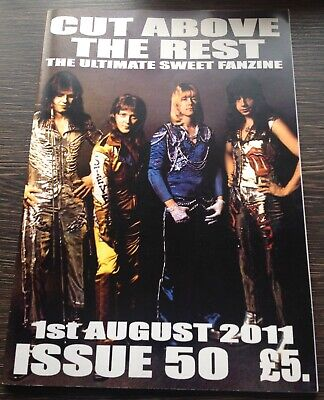 THE SWEET - Cut Above The Rest VINTAGE Official Fanzine Issue 50 Glam Hard Rock • 12£