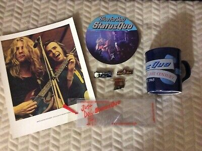 Status Quo Photo Print Badges Mug Bookmark Sticker Blue For You  Articles • 60£