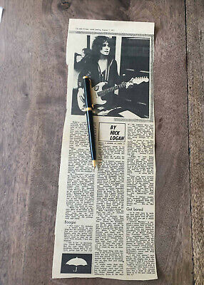 Marc Bolan/T.Rex N.M.E Review By Nick Logan Of Electric Warrior 7 August 1971 • 1.99£