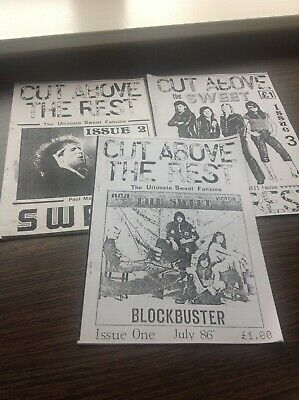 THE SWEET - Cut Above The Rest Original Fanzine Issues 1 2 & 3 Connolly SET 5. • 21£