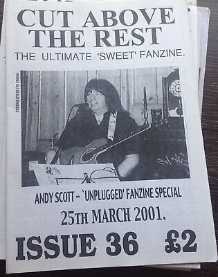 THE SWEET - CUT ABOVE THE REST VINTAGE ISSUE 36 Sweet Fanzine Glam ! ANDY SCOTT! • 11£