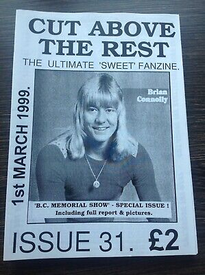 THE SWEET - Cut Above The Rest VINTAGE Official Fanzine Issue 31 Glam Hard Rock • 12£