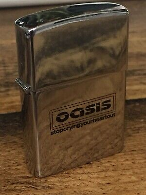 Oasis Stop Crying Your Heart Out Promo Lighter • 50£