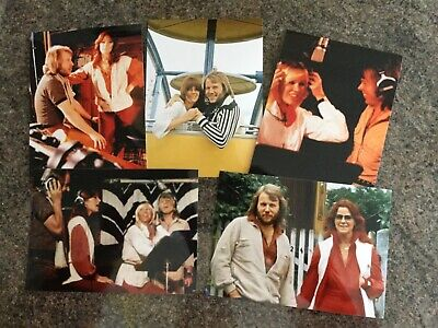5 RARE ABBA 5 X 7 INCH COLOUR PHOTOS • 4.99£