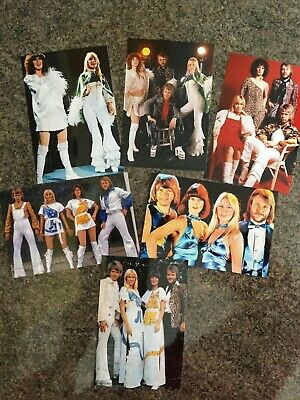 6 RARE  ABBA 6 X 4 INCH COLOUR PHOTOS • 4.99£