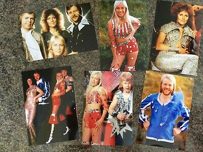 6 RARE ABBA 6 X 4 INCH  PHOTOS • 4.99£