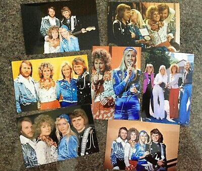 7 RARE ABBA 6 X 4  INCH PHOTOS • 4.99£