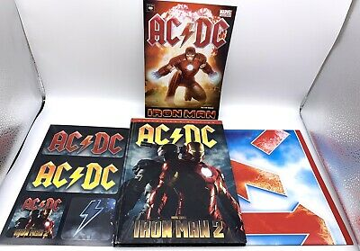 AC/DC Iron Man Book 2 CD & DVD Collector's Edition With Comic, Poster & Stickers • 32.99£