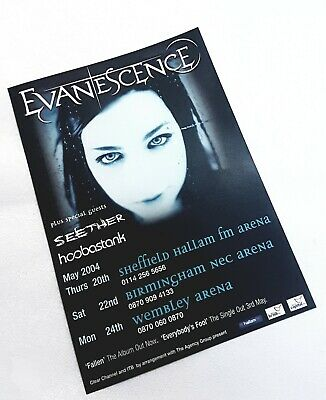 EVANESCENCE  / UK TOUR/  A5 Flyer 2004 • 6£