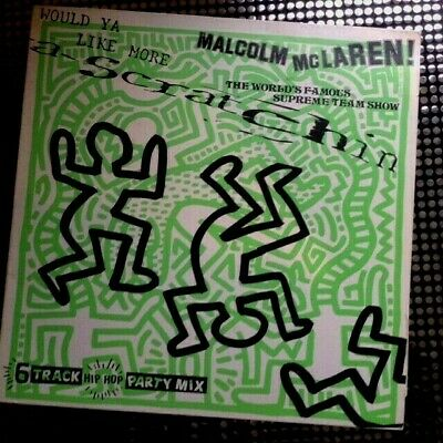 1984 Vintage WOULD YA LIKE MORE SCRATCHIN Vinyl MALCOLM McCLAREN KEITH HARING • 20£