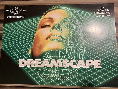 Dreamscape 1 - ESP A4 Rave Flyer / Acid House - 1991 - Milton Keynes - Original • 102£