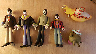 Lot Of Four Beatles Action Figures Yellow Submarine • 45£