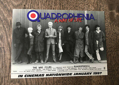 QUADROPHENIA A WAY OF LIFE POSTCARD CAST LINE UP.The Who Films Jan 1997 MOD  • 1.99£