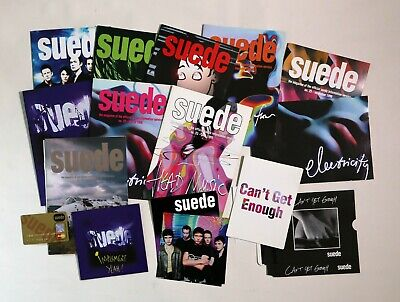 Suede Information Service Fan Club Bundle - Magazines, CD, Postcards And More... • 24.99£