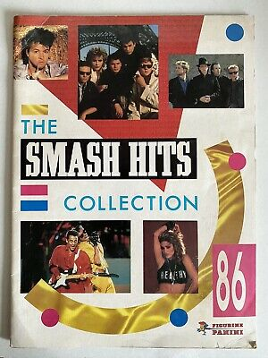 SMASH HITS Collection 1986 Panini Sticker Book With 78 Stickers Wham Band Aid • 28.99£