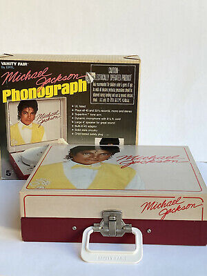 Vintage 1984 Vanity Fair Michael Jackson Portable Record Player Model 143 W/Box • 35.46£