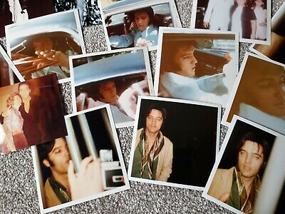 Elvis Candid Photo Bundle 1960's & 1970's Of Various Sizes 6x4 / 4x4 24 In Total • 12£