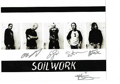 Soil Work Hand Signed 10 X 8 Inch Colour Photograph Of The Band. • 19.99£
