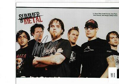 3 Inches Of Blood 10 X 8 Inch  Hand Signed By Vocalist Cam Pipes Rare Item. • 59.99£
