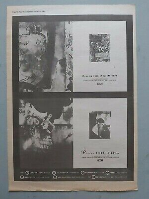 Throwing Muses House .. Pixies Surfer Rosa 4ad Original Trade Advert / Poster • 7.99£