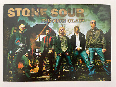 Stone Sour Through Glass Promo Postcard • 1£