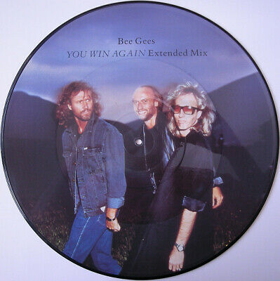 THE BEE GEES - You Win Again - 12 Inch Picture Disc - Highly Collectable • 14.99£