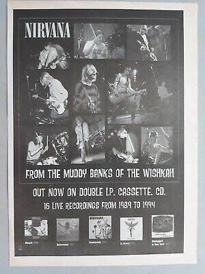 Nirvana From The Muddy Banks Original Trade Advert / Poster • 7.99£