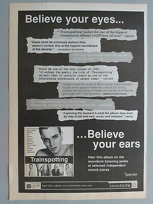 Trainspotting Believe Your Eyes..  Original Trade Advert / Poster • 7.99£