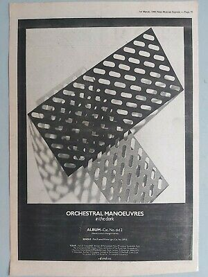 Omd 1980 Tour Dates Original Trade Advert / Poster • 7.99£