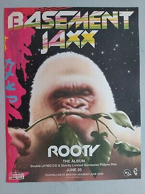 Basement Jaxx Rooty Original Trade Advert / Poster • 7.99£