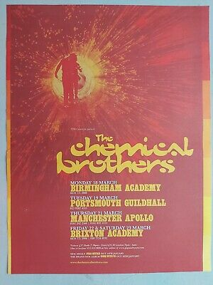 Chemical Brothers Live 2001 Original Trade Advert / Poster • 7.99£