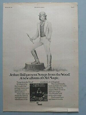 Jethro Tull Songs From The Wood Original Trade Advert / Poster • 7.99£