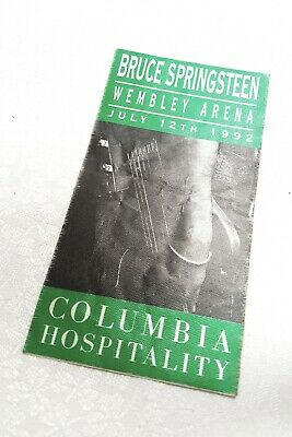 BRUCE SPRINGSTEEN / WEMBLEY ARENA 1992 COLUMBIA  HOSPITALITY TOUR PASS /Unused • 30£